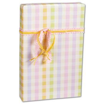Pastel Plaid Gift Wrap, 24
