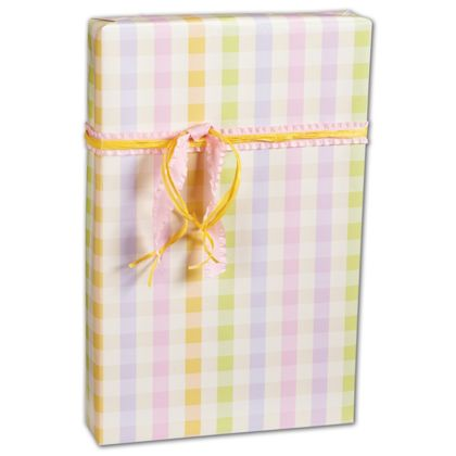 "Pastel Plaid Gift Wrap, 24"" x 417'"
