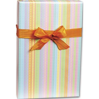 Dotty Stripe Gift Wrap, 24