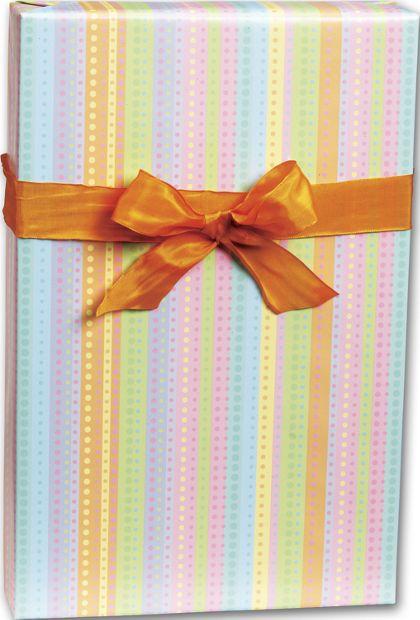 """Dotty Stripe Gift Wrap, 24"""" x 100'"""