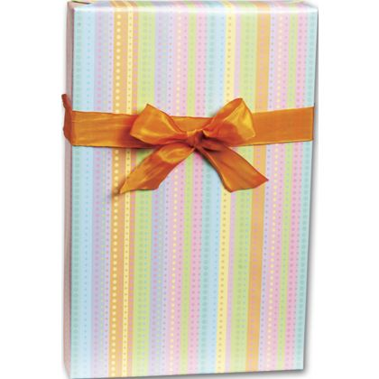 "Dotty Stripe Gift Wrap, 24"" x 100'"
