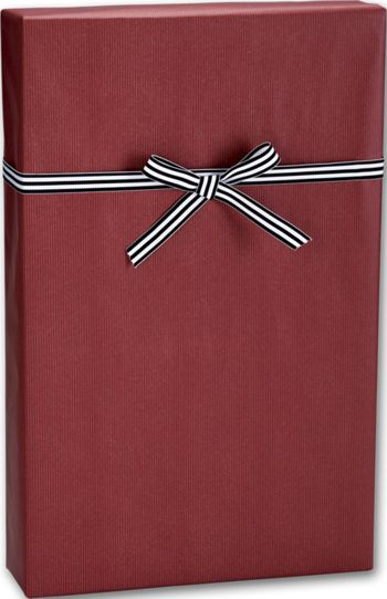 Dark Red/Kraft Gift Wrap, 24