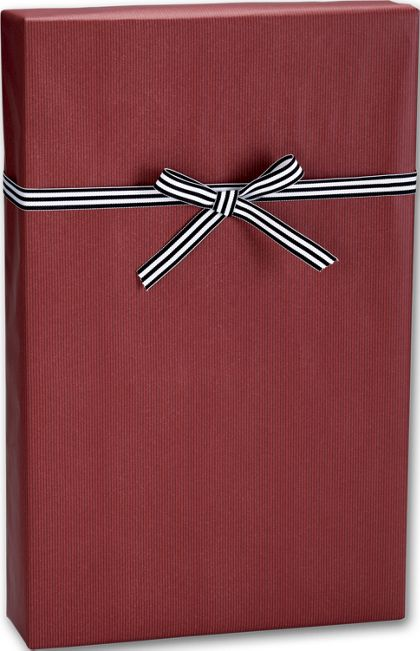 "Dark Red/Kraft Gift Wrap, 24"" x 100'"
