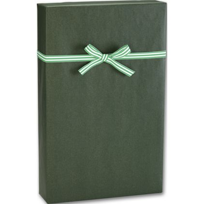"Dark Green/Kraft Gift Wrap, 24"" x 100'"