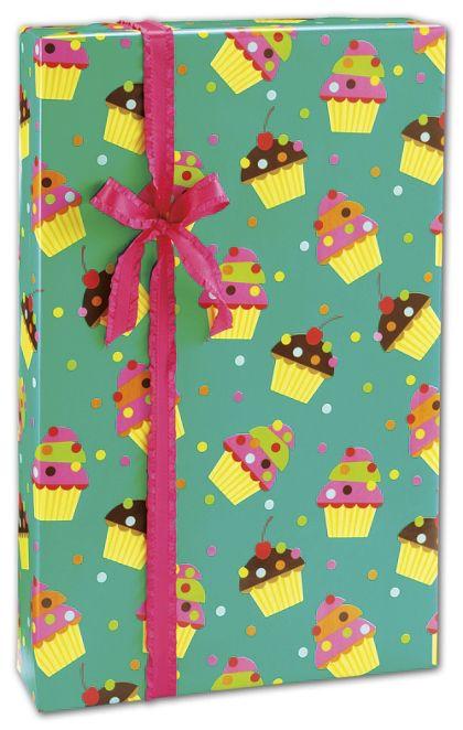 "Cupcake Love Gift Wrap, 24"" x 417'"