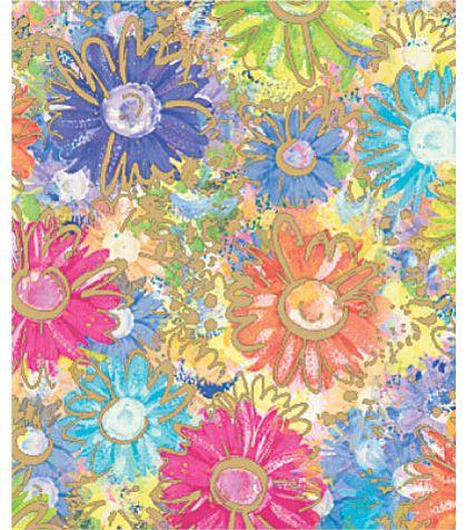 """Gilded Daisy Gift Wrap, 24"""" x 417'"""