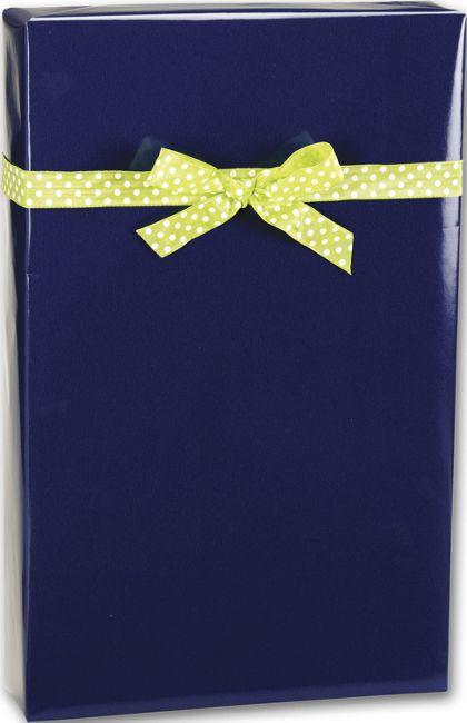 "Navy Ultra Gloss Gift Wrap, 24"" x 100'"