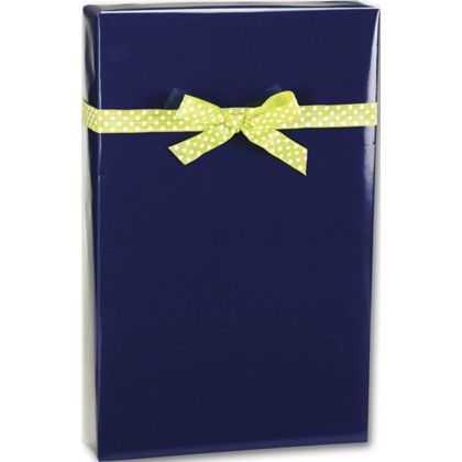 "Navy Ultra Gloss Gift Wrap, 24"" x 100'"