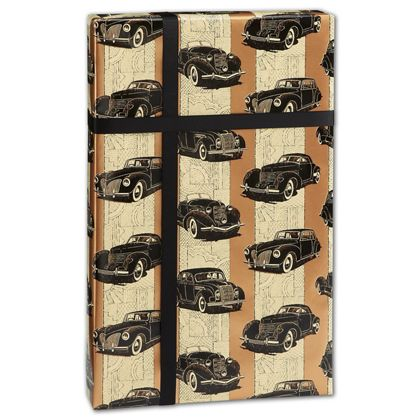 "Classic Cars Gift Wrap, 24"" x 100'"