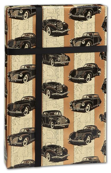"""Classic Cars Gift Wrap, 24"""" x 417'"""