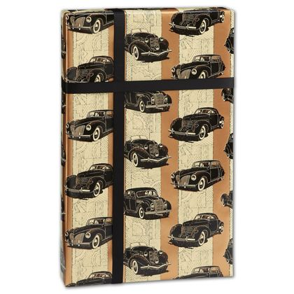 "Classic Cars Gift Wrap, 24"" x 417'"