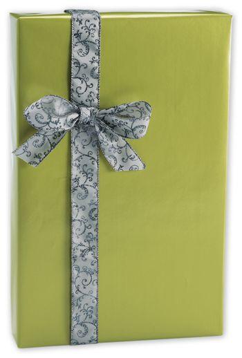 Shimmer Frost Leaf Gift Wrap, 24