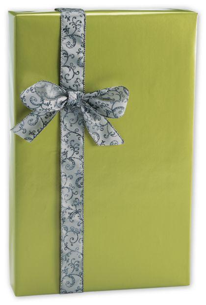 "Shimmer Frost Leaf Gift Wrap, 24"" x 417'"