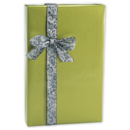 "Shimmer Frost Leaf Gift Wrap, 24"" x 100'"