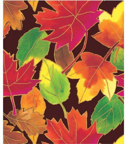 "Autumn Leaves Gift Wrap, 24"" x 417'"