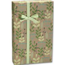 """Leaves & Berries/Kraft Gift Wrap, 24"""" x 417'"""
