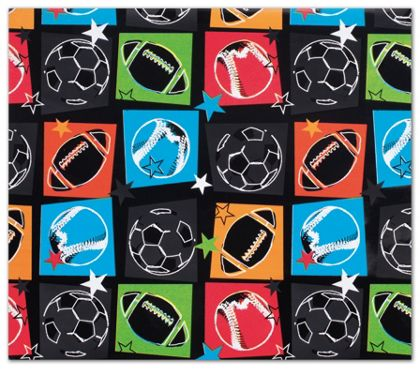 "Sports Fanatic Gift Wrap, 24"" x 417'"