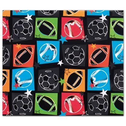 "Sports Fanatic Gift Wrap, 24"" x 417'"