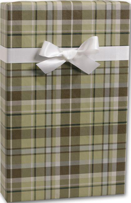 "Kensington Plaid/Kraft Gift Wrap, 24"" x 417'"