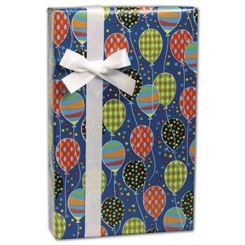 "Party Balloons Gift Wrap, 24"" x 100'"