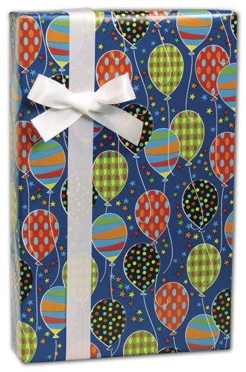 Party Balloons Gift Wrap, 24