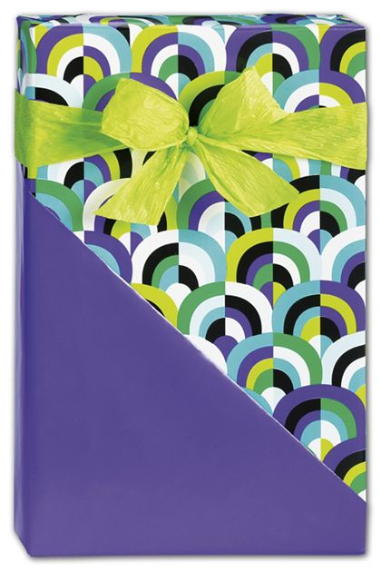 "Arch Deco Reversible Gift Wrap, 24"" x 100'"