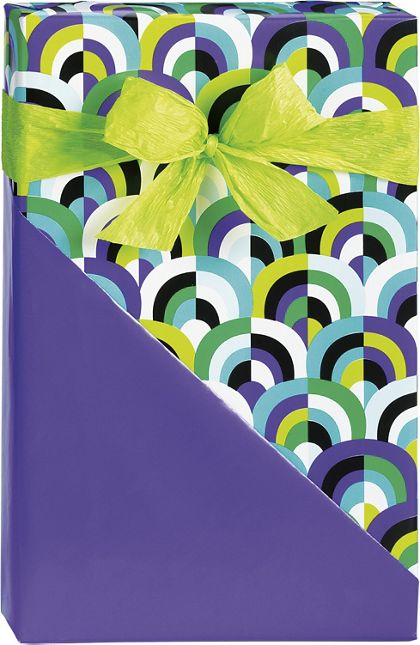 "Arch Deco Reversible Gift Wrap, 24"" x 417'"