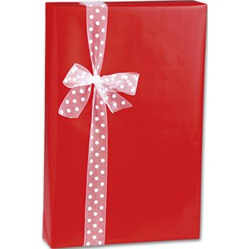 Red Ultra Gloss Gift Wrap, 24