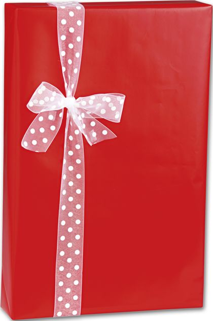 "Red Ultra Gloss Gift Wrap, 24"" x 100'"