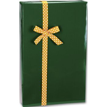 Forest Green Ultra Gloss Gift Wrap, 24