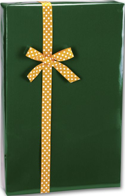 "Forest Green Ultra Gloss Gift Wrap, 24"" x 417'"