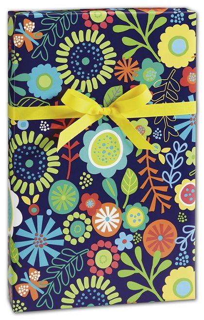 "Flower Fun Gift Wrap, 24"" x 100'"