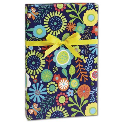 "Flower Fun Gift Wrap, 24"" x 100'"