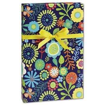 "Flower Fun Gift Wrap, 24"" x 417'"