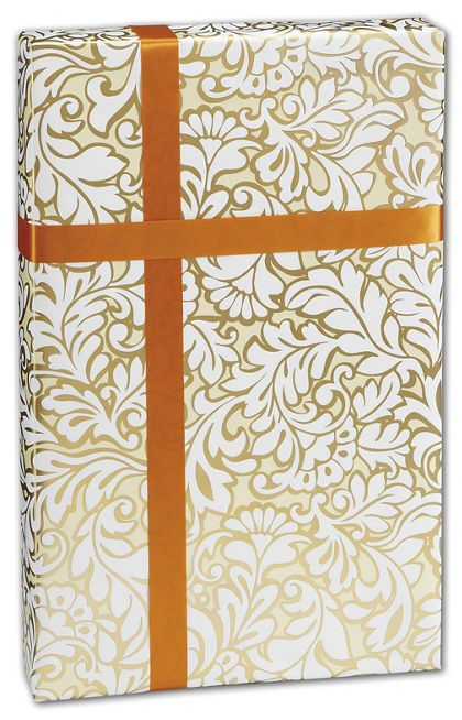 "Damask Blooms Gift Wrap, 24"" x 417'"