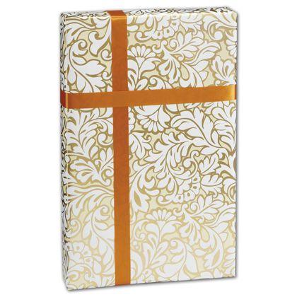 """Damask Blooms Gift Wrap, 24"""" x 417'"""