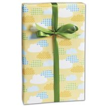 """Gingham Clouds Gift Wrap, 24"""" x 417'"""