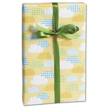 Gingham Clouds Gift Wrap, 24
