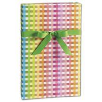 "Rainbow Gingham Gift Wrap, 24"" x 100'"