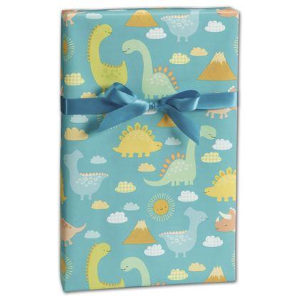 "Babysaurus Gift Wrap, 24"" x 100'"