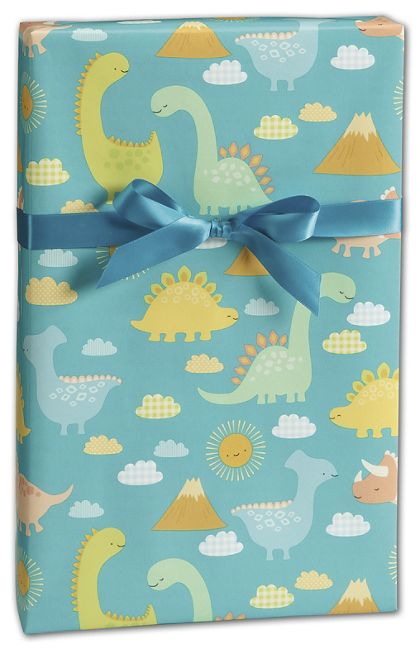"Babysaurus Gift Wrap, 24"" x 417'"