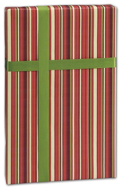 "Earth Stripes Gift Wrap, 24"" x 417'"