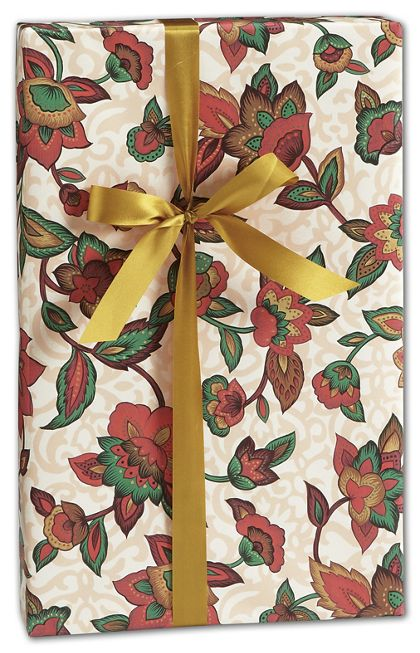 "Earth Blooms Gift Wrap, 24"" x 100'"