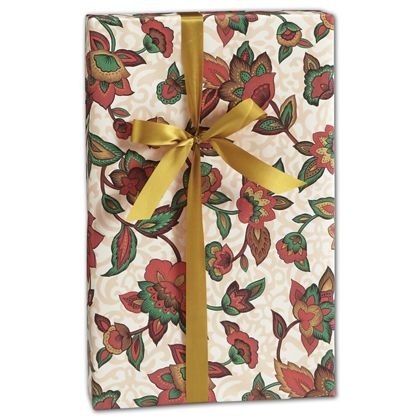 "Earth Blooms Gift Wrap, 24"" x 417'"