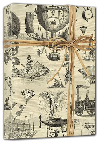 """Extraordinary Voyages Gift Wrap, 24"""" x 100'"""