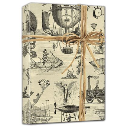 "Extraordinary Voyages Gift Wrap, 24"" x 100'"
