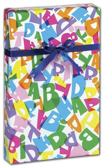 Happy Birthday Gift Wrap, 24