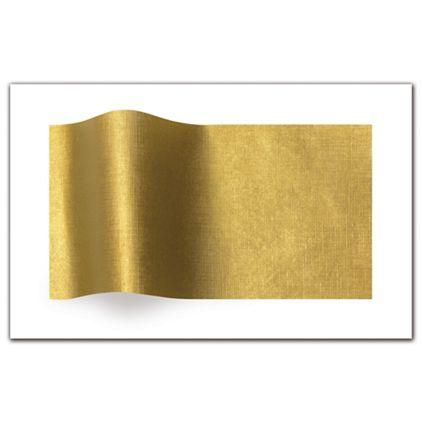 "Embossed Gold Linen Tissue Paper, 20 x 30"""