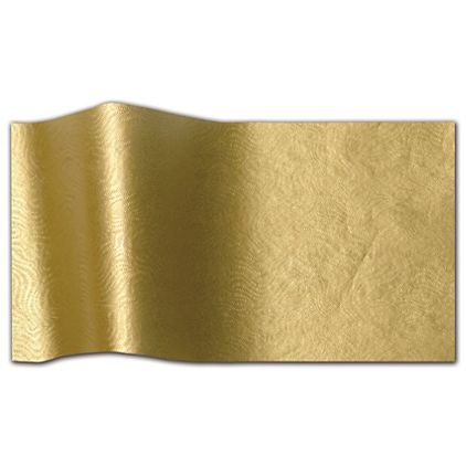 "Embossed Gold Swirls Tissue Paper, 20 x 30"""
