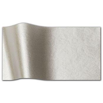 "Embossed Silver Swirls Tissue Paper, 20 x 30"""